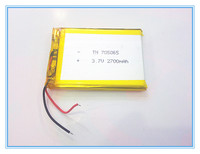 Livraison gratuite 3.7 V, 2700 mAH, [705065] PLIB; polymère au lithium ion/Li-ion batterie pour dvr, GPS, mp3, mp4, téléphone portable, haut-parleur