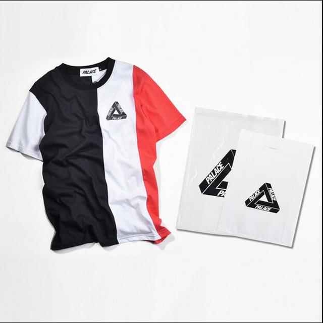 Gosha Rubchinskiy Palácio Skates 1: 1 de Alta Qualidade T shirt Homens thrasher Algodão Verão t-shirt do Estilo Men Stripe Tee 3 trasher