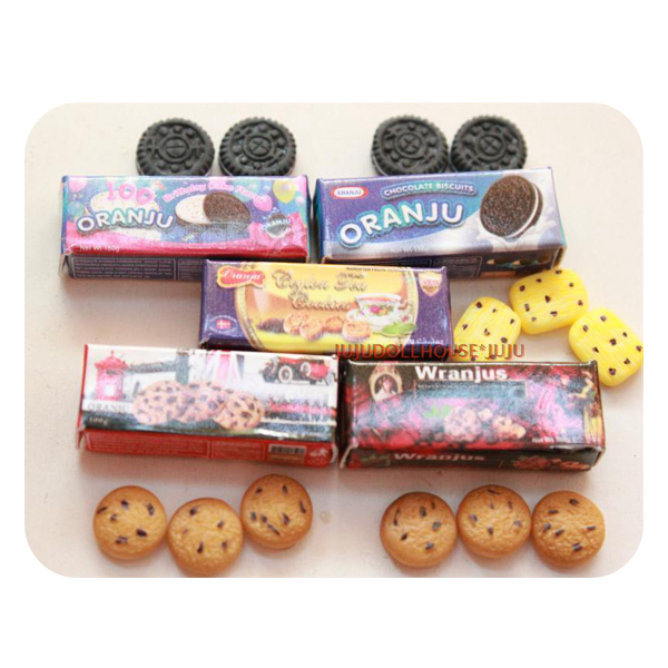 Cute 5 Boxes 1 6 Dollhouse Miniature Doll Food Cookies Snake Play Doll House Accessories