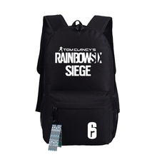 New Arrival Game Tom Clancys Rainbow Six Siege Bag Backpack Teenagers Men Womens Student School Bags Travel Laptop