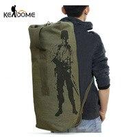 Outdoors Bags Women Men S Travel Luggage Bucket Multifunctional Military Canvas Backpack Shoulder Bag Duffel Bag