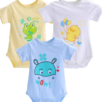 Babe 3 PCS/lot Baby Bodysuits Infant Jumpsuit short Sleeve Baby Clothing Set Summer Baby Girl Clothes Baby Accessories
