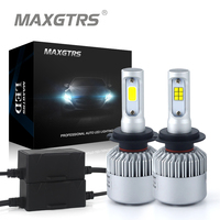 2x H7 8000Lm CREE Chip CSP COB Led 72W Car Headlight Light Bulb Canbus 6500K Auto