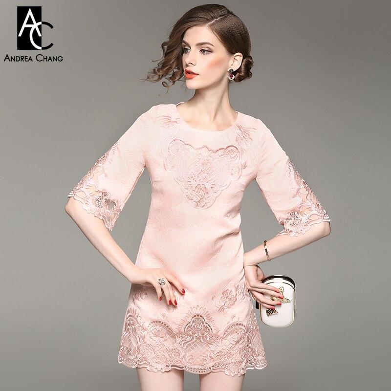 75d09a44bd Wiosna jesień kobieta sukienka drążą rocznika wzór kwiatowy haft różowy  czerwona sukienka wysokiej jakości mini party event sukienka XXL w Wiosna  jesień ...