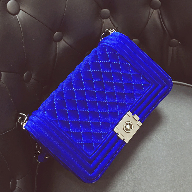 Gyémánt hímzés Női táska Velvet luxus kézitáska Női táskák Tervező divat Bolsa Feminina női válltáskák