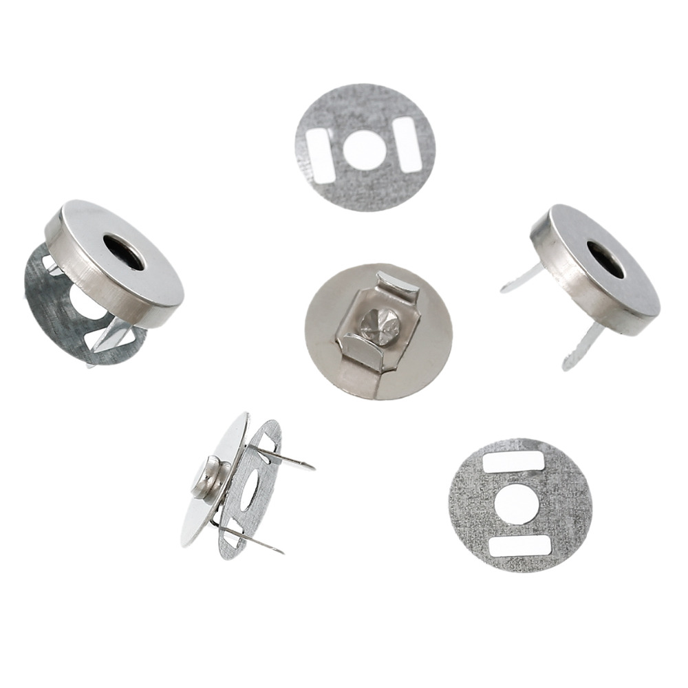 DoreenBeads 20 Sets Silver Tone Magnetic Purse Snap Clasps/ Closure For Purse Handbag 14mm(4/8
