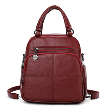YILIAN fashion women Joining together leather backpack feminine school bags for rucksack knapsack Leisure 8211