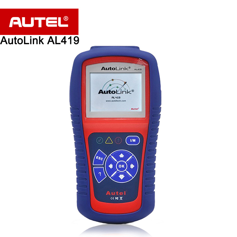 Autel Autolink AL419 OBDII CAN Scan Tool with TFT Color Screen Code Reader Troubleshooter code tips Auto diagnostic tool car diagnostic scan tool autel autolink al419 obd ii