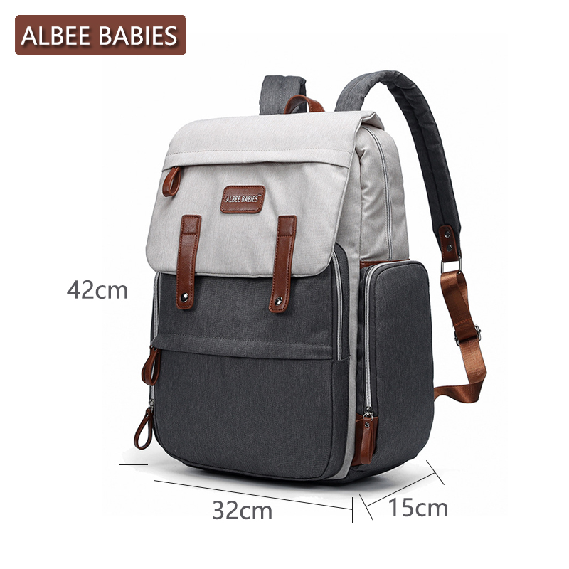 ALBEE BABIES Baby Care Diaper Maternity Bag for Mom Mommy Backpack Stroller Nappy Changing Bags Wet Mother Travel Nursing