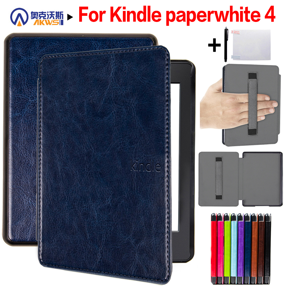 Walkers Fashion Cover for Amazon Kindle Paperwhite 4 Case 6'' Ereader Case for Paperwhite 2018 E-book with Hand Holder+Gifts