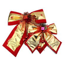 1PC Bow Pendant Drop Ornaments Christmas Gold Bowknot Tree Decorations Xmas Bow Home Party Scene Decorations Supplies 35/54/60CM