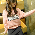 Spring Autumn Starting Letters Printing Girls Combination Korean Set of Head Long Sleeve T-shirt Kids Clothing Pink Yellow
