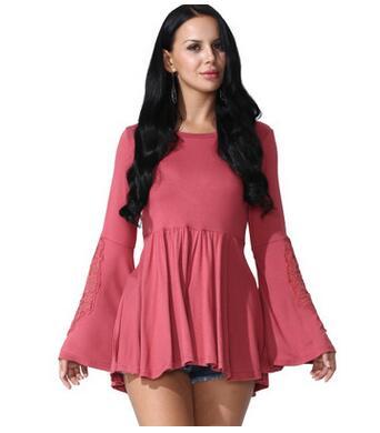 2017 free shipping Summer frock long sleeve T-shirt Plus-size hot sale women fashion t-shirt 8 colors SIZE S-3XL