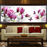 5D DIY Magnolia Butterfly Rhinestone Diamond Painting Cross Stitch Kits Home Decor Wall Stickers 2018