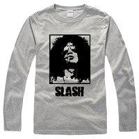 Guns N Roses Guitarist Slash Rock Men T Shirt Women Fashion Long Sleeve Round Collar Cotton