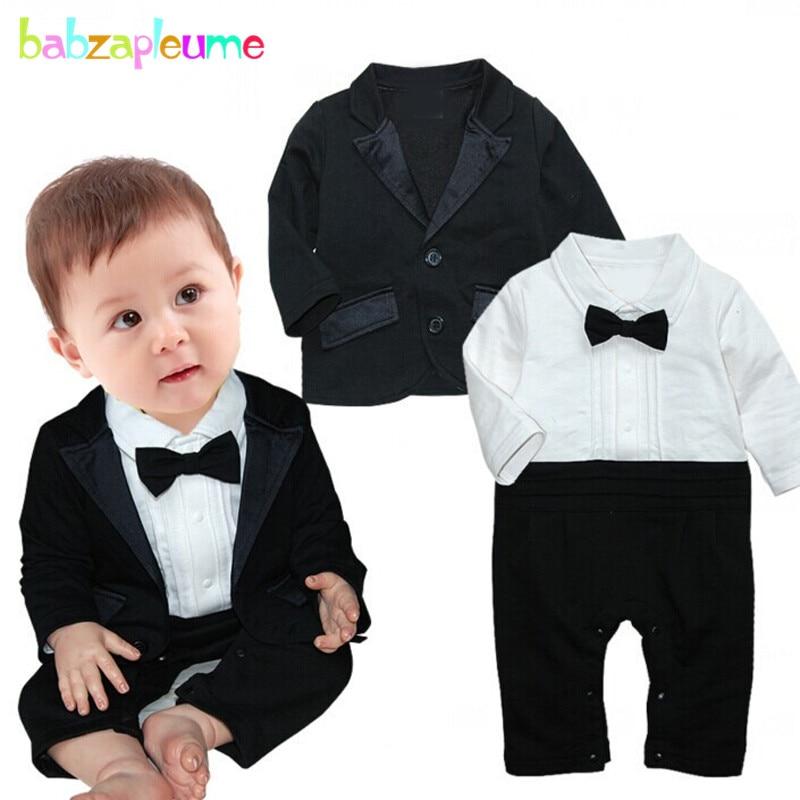 2PCS/0-24Months/Spring Autumn Newborn Baby Boys Clothes 1st Birthday Gentleman Jackets Coat+Jumpsuit Infant Clothing Sets BC1278