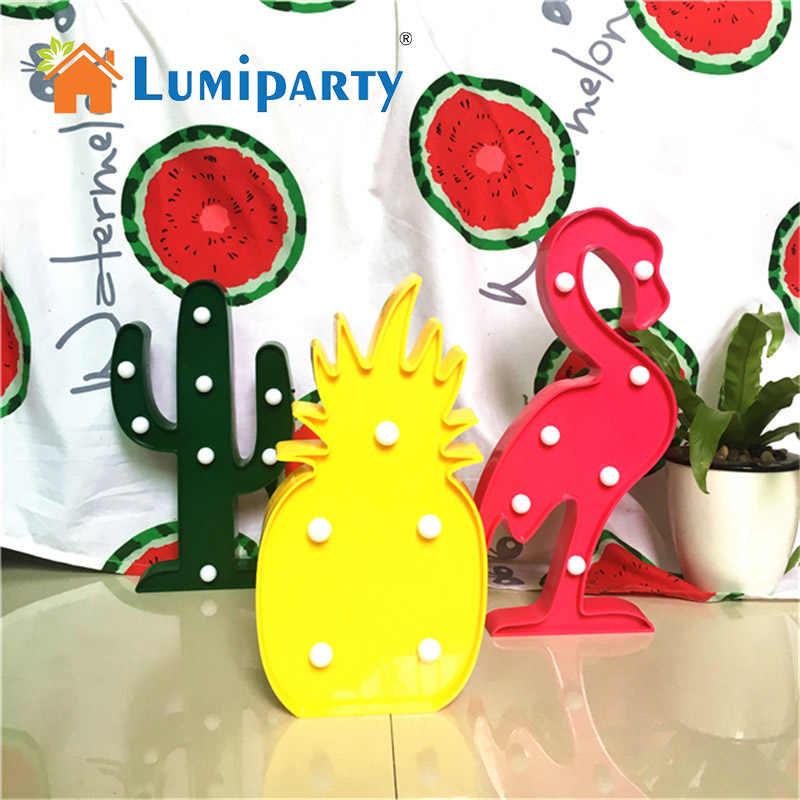 Flamingo 3D LED Licht Festzelt Zeichen Kaktus Ananas Tisch Lampen Nette Kinder Geschenk Spielzeug für Kinder Schlafzimmer Innen Dekor Beleuchtung