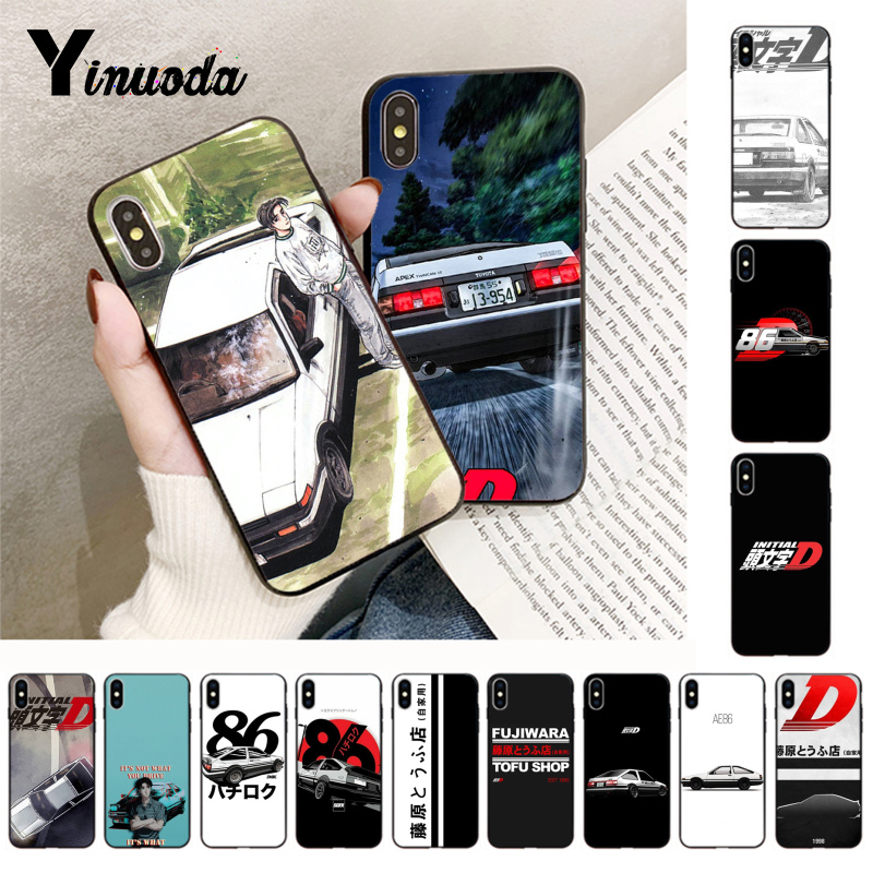 Yinuoda INITIAL <font><b>D</b></font> AE86 newly arrived phone cover for <font><b>iphone</b></font> 5 5s SE 6 <font><b>6s</b></font> 6plus 7 7plus 8 8plus X XS XR XSMax <font><b>coque</b></font> case image