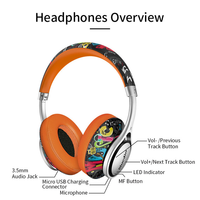 Bluedio A2 Bluetooth Fashionable Wireless Headphones for phones and music