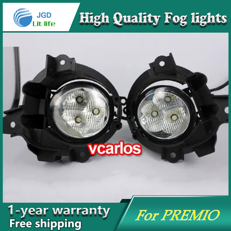 2PCS / Pair LED Fog Light For Toyota PREMIO 2010 High Power LED Fog Lamp Auto DRL Lighting Led Headlamp 2pcs pair led fog light for toyota corolla axio 2007 high power led fog lamp auto drl lighting led headlamp