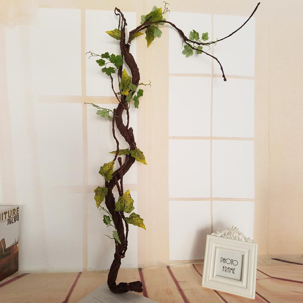 Beautiful Decorative Artificial Trees Long Soft Plastic Dried Tree Branch Plant Wedding Home House Decor Simulation Spiral Vine