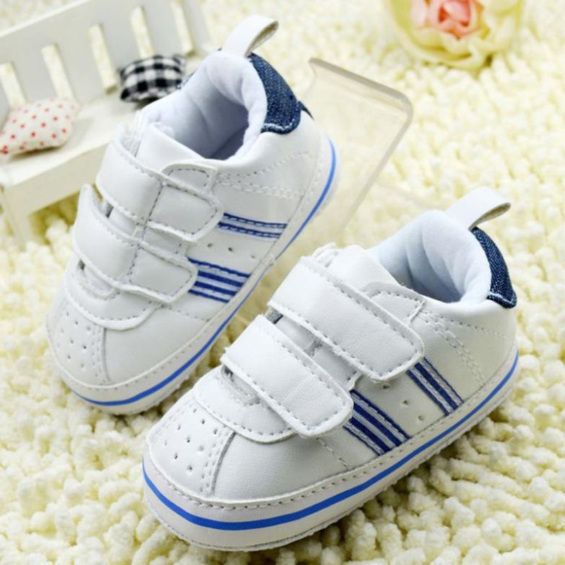 Infant-Toddler-Leather-Crib-Shoes-Lace-Up-Stripe-Sneaker-Baby-Prewalker-5