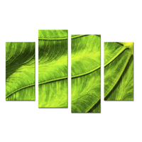 4PCS Leaf In Spring Living Rooms Set Wall Painting Print On Canvas For Home Decor Ideas