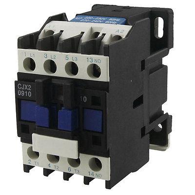 CJX2-0910 Motor Control AC Contactor AC-3 4KW 9A 3P 3 Pole 220 Volts Coil motor control ac contactor ac 3 37kw 80a 3p 3 pole 110v 120v coil