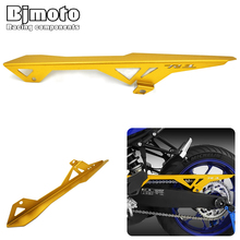 цена на BJMOTO CNC Aluminum Motorcycle YZFR3 Rear Chain Guard Cover Protector For Yamaha Yzf -R3 2015-2018 R3 ABS 2017 2018