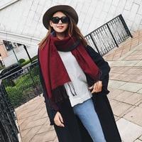 2017 nieuwe winter warm dikke kasjmier sjaals dubbele kleur AB dubbelzijdig omzoomd shawl groothandel airconditioning Ms.