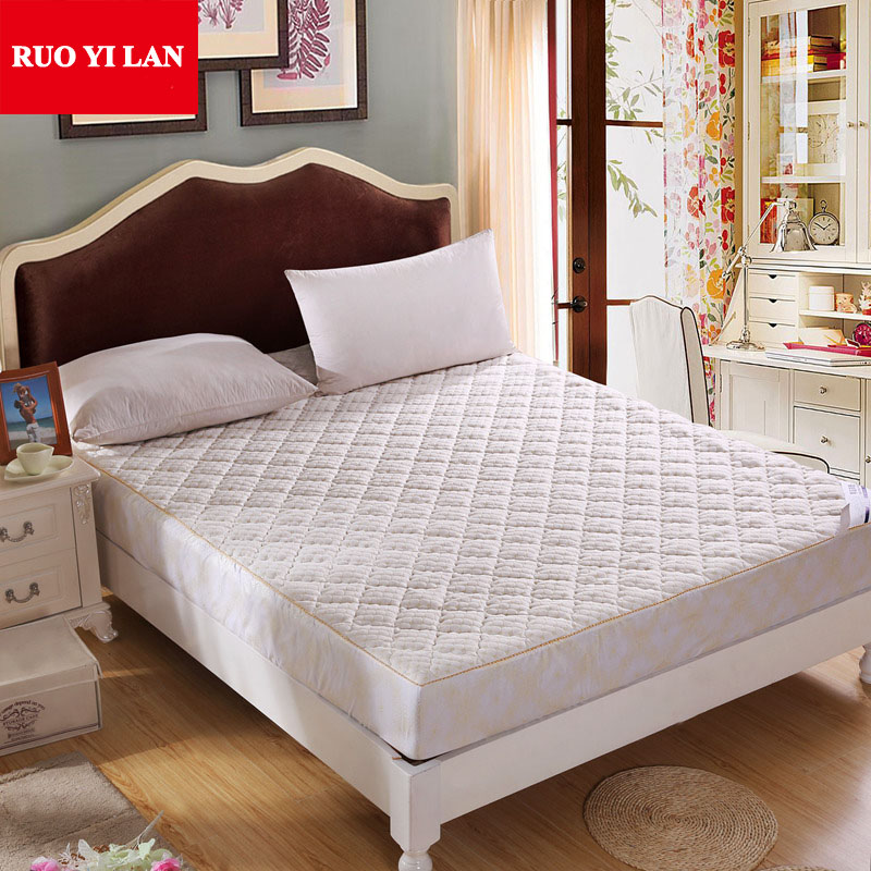 Quilted Mattress Protective Cover With Rubber Fillings Single Double Topper 1 2m 5m 8