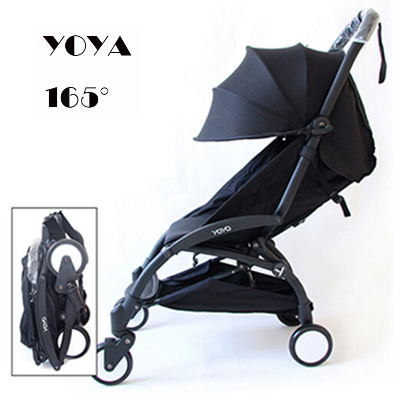 Yoya baby stroller light folding umbrella car can sit may be ultra light portable plane 2017 pouch new baby stroller super light umbrella baby car folding carry on air plane directly minnie size