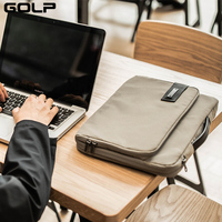 GOLP Waterproof Laptop Bag for Macbook Pro 15 2018 Notebook bag, Universal Computer Handbag Briefcase Bag for Macbook Retina 15