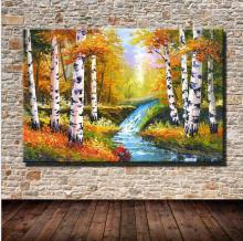 100% hand painted oil painting on canvas landscape 50x70cm for home decoration