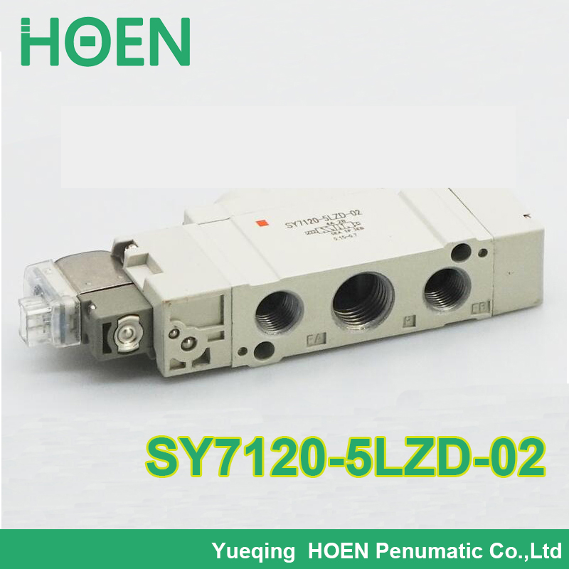 free shipping SY7120-5LZD-02 DC24V solenoid valve with suitable manifold for NM Tech