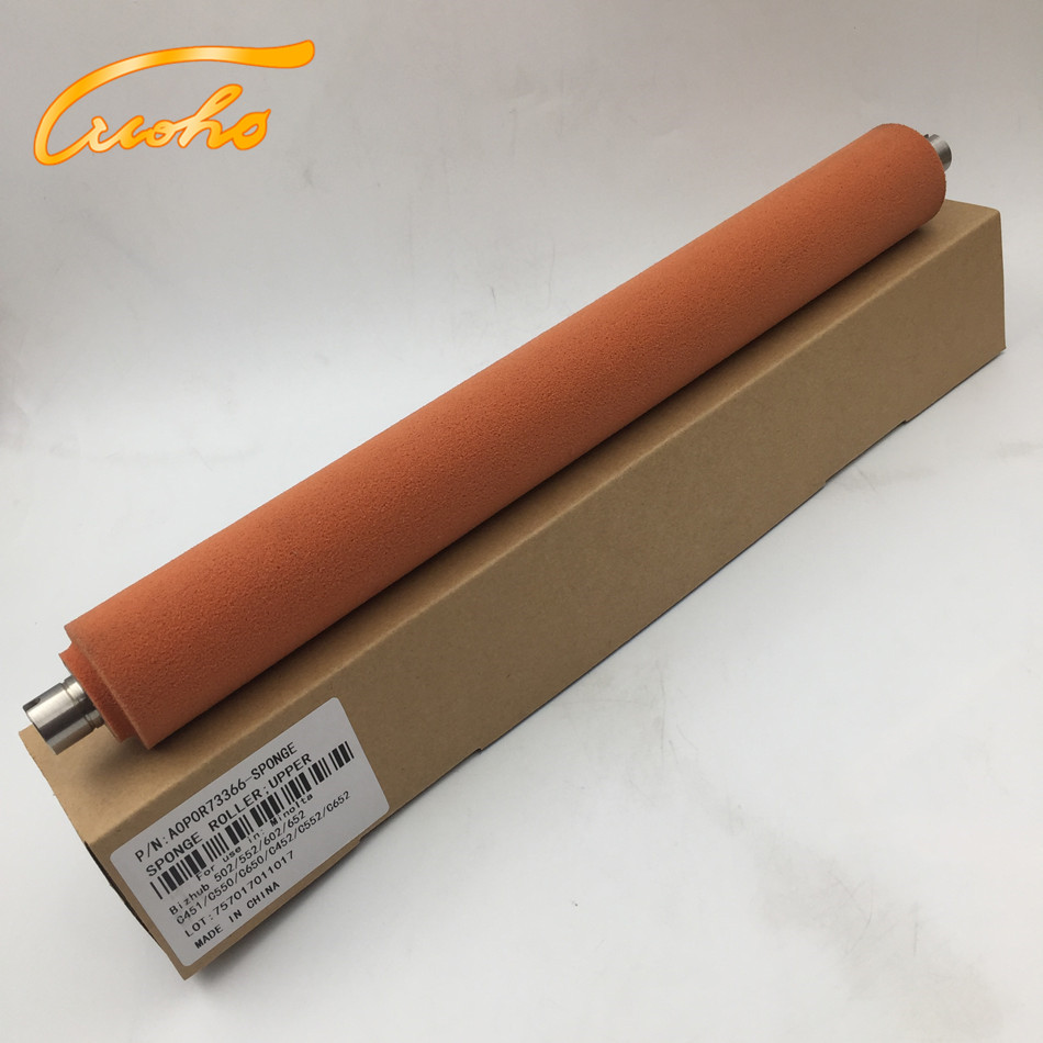 Bizhub C650 fuser sponge roller for Konica Minolta Bizhub C452 C451 C550 C552 C650 C652 color copier part to press fuser film 1pcs compatible developer for minolta 7020 7022 7030 7130 7025 copier parts
