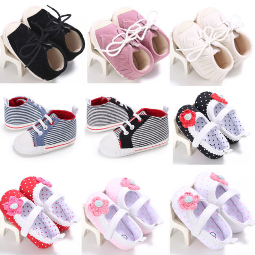 Helen115 Infant Toddler Baby Boys Girls Shoes Newborn Casual Shoes Soft Sole Crib Sneaker