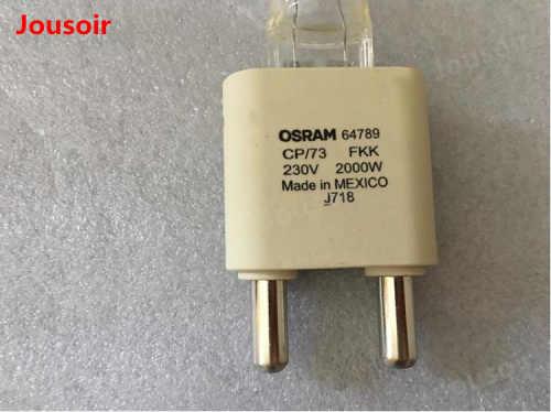 OSRAM Bulbo Refletor 2000 w/G38 Tungstênio Lâmpada OSRAM 64789 Lâmpada de Luz Quente 3200 k OSRAM Holofotes Tubo CD50 t06