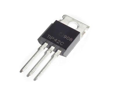 10pcs/lot Mosfet Transistor Tip42c To220 High Power Mosfet P TO-220 PNP Field Effect Transistor Mosfet Power Transistors 100v 6a