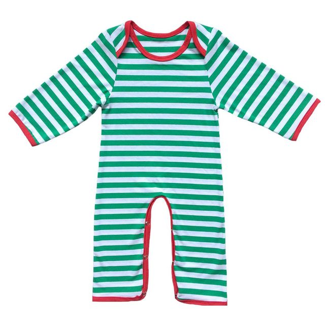 89b148b37ad3 Christmas Pajama Personalized Baby Boys Girls Red And White Striped Infant  Romper Twins Family Full Piece Long sleeve nightgown