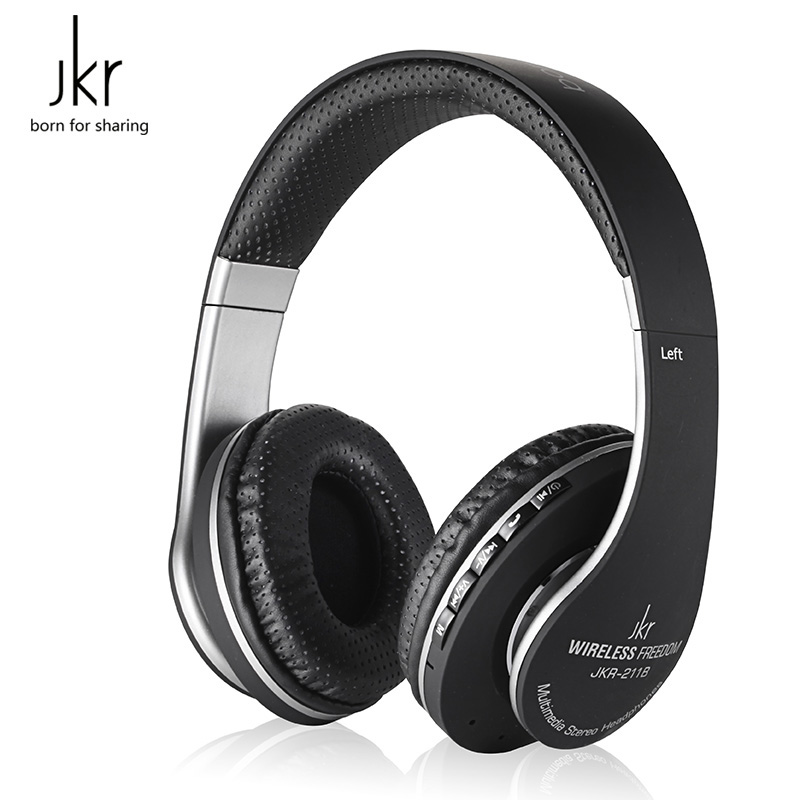 Original JKR 211B Bluetooth Headset Wireless Earphone Stereo Music with Micophone Bluetooth Headphone Support FM Radio TF Card sports wireless bluetooth stereo headset with fm tf card mp3 music player headphone