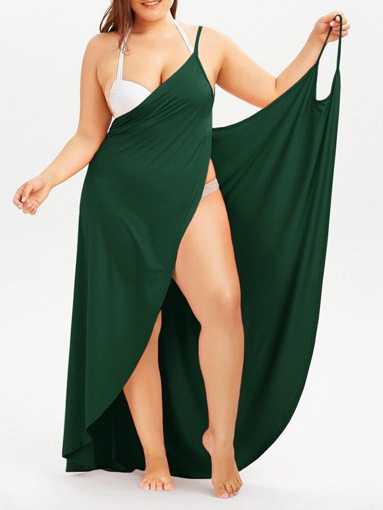 Plus Size Pareo Beach Cover Up Wrap Dress Bikini Swimsuit Bathing Suit Cover Ups Robe De Plage Beach Wear Tunic kaftan Swimwear 45