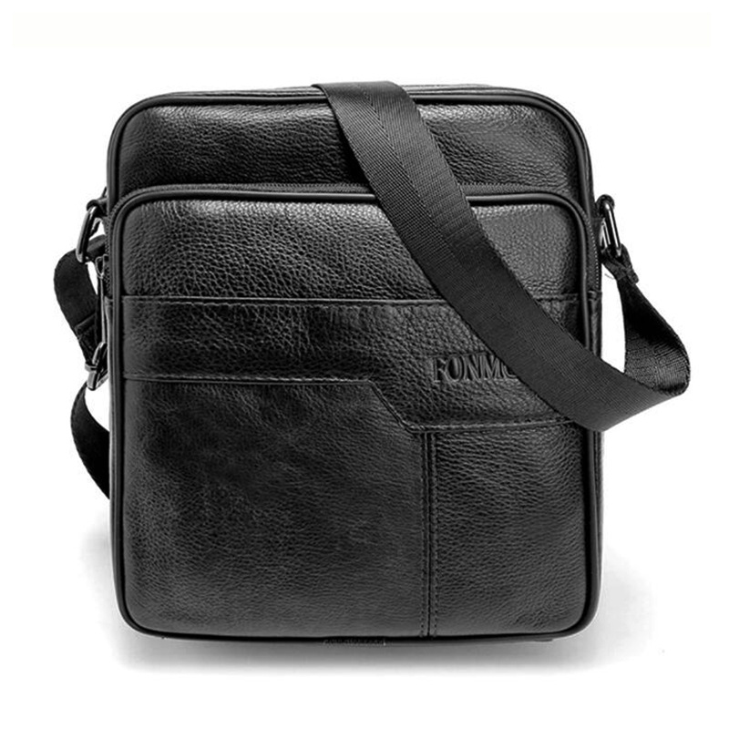 New fashion mens bag High quality men messenger bags cowhide genuine leather famous brand crossbody small shoulder bag new casual business leather mens messenger bag hot sell famous brand design leather men bag vintage fashion mens cross body bag