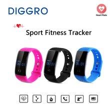 Diggro умный Браслет S1 сердечного ритма и крови кислородом Мониторы Спорт Фитнес трекер Bluetooth Смарт часы Браслет сна Мониторы