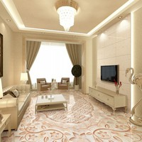 Free Shipping Marble Texture Parquet Reliefs 3D Floor Painting Lifelike Thickened Wallpaper Self Adhesive Bathroom Mural