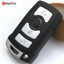 Keyecu CAS1 Remote Key 4 Button 868MHz Chip  ID7944 for BMW  7 series E65 E66 With Uncut Blade