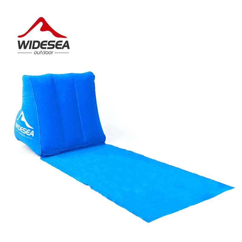 WIDESEA sandbeach mattress with pillow inflatable back PVC+suede 400G foldable&portable beach chair camping travel gear air bed durable thicken pvc car travel inflatable bed automotive air mattress camping mat with air pump