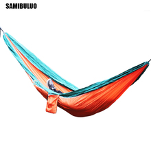 SAMIBULUO Parachute Hammock For Two person Outdoor Portable Garden Yard Patio Leisure Outdoor Furniture 270*140CM single person high quality wicker garden leisure swing chair outdoor hammock patio leisure cover seat bench with cushion