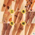 NEW Sexy Tattoo Cute Patterns Sheer Pantyhose Stockings Leggings cat rabbit fish bat style 200 styles random color