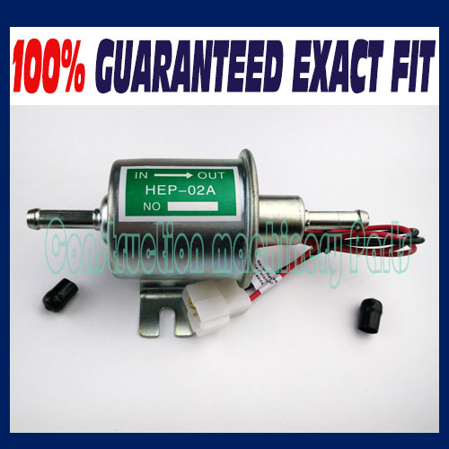 12V Universal Gas Diesel Inline Low Pressure Electric Fuel Pump HEP-02A - Fast free shipping